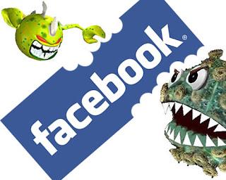 virus on Facebook profile