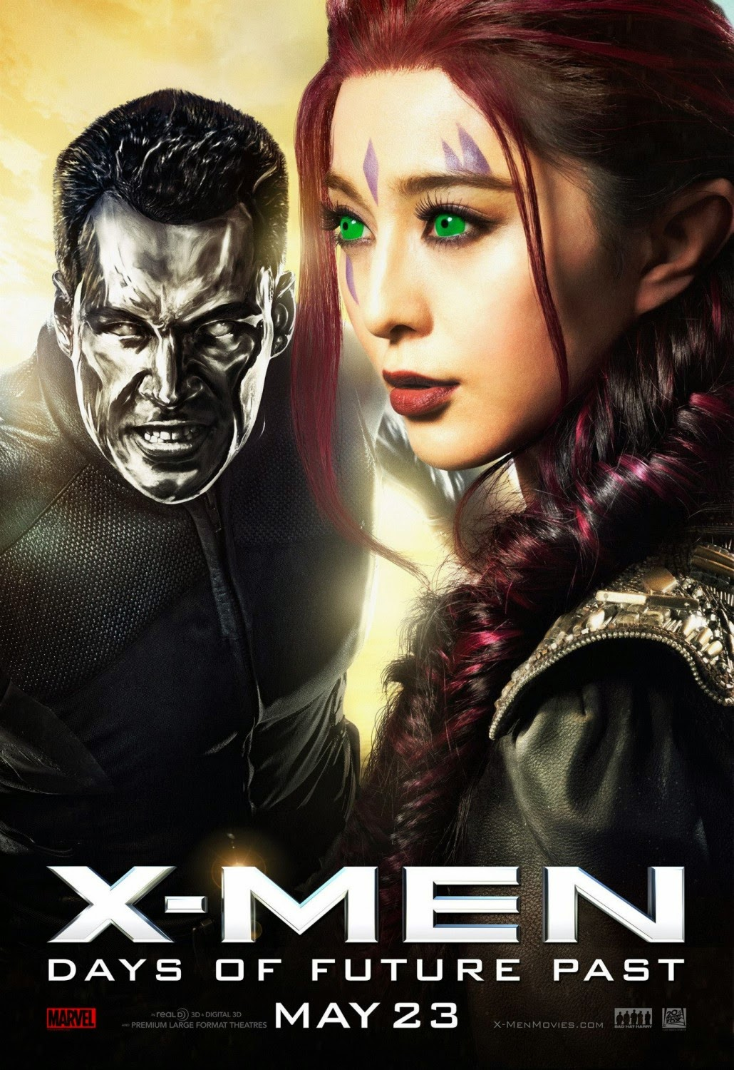 X-Men Days of Future Past Character Movie Poster Set - Daniel Cudmore as Colossus & Bingbing Fan as Blink