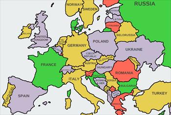 Peta Eropa. (Sumber)
