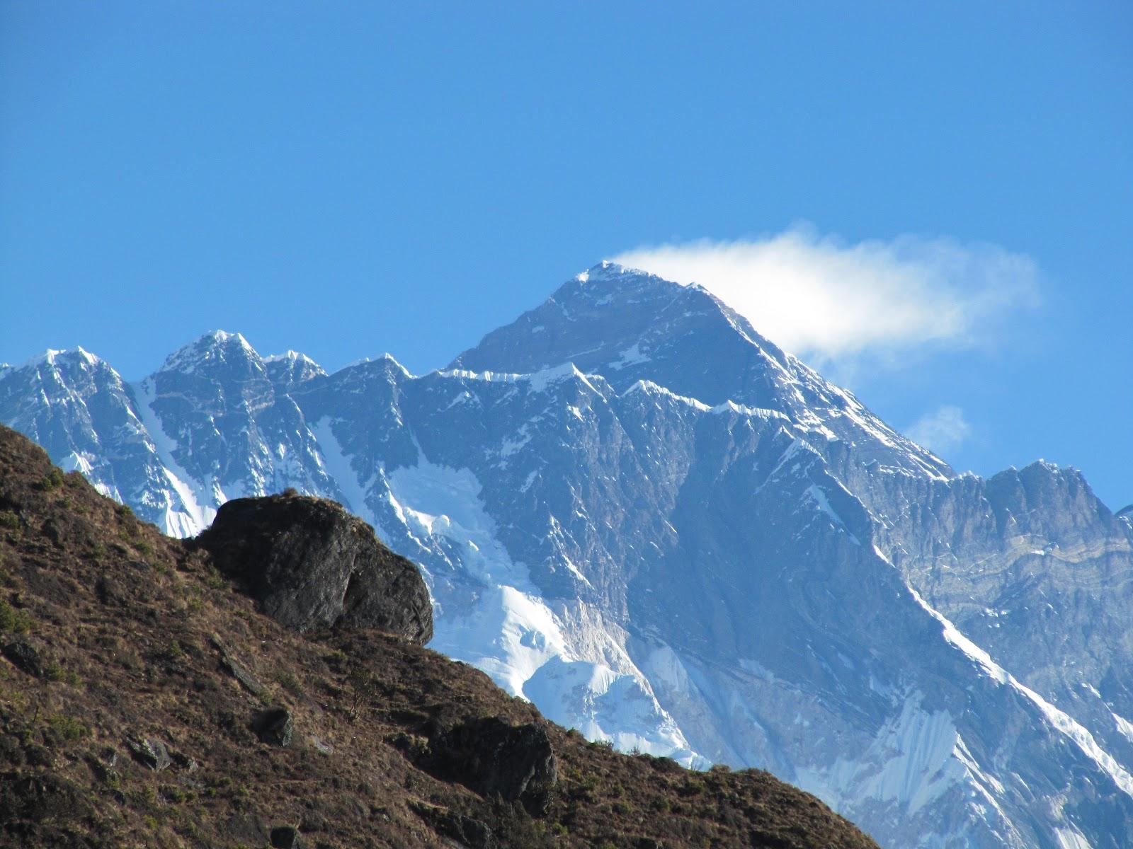 Mount Everest Rainbow Valley Mt everest from namche bazar.