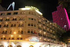 Majestic Hotel at night
