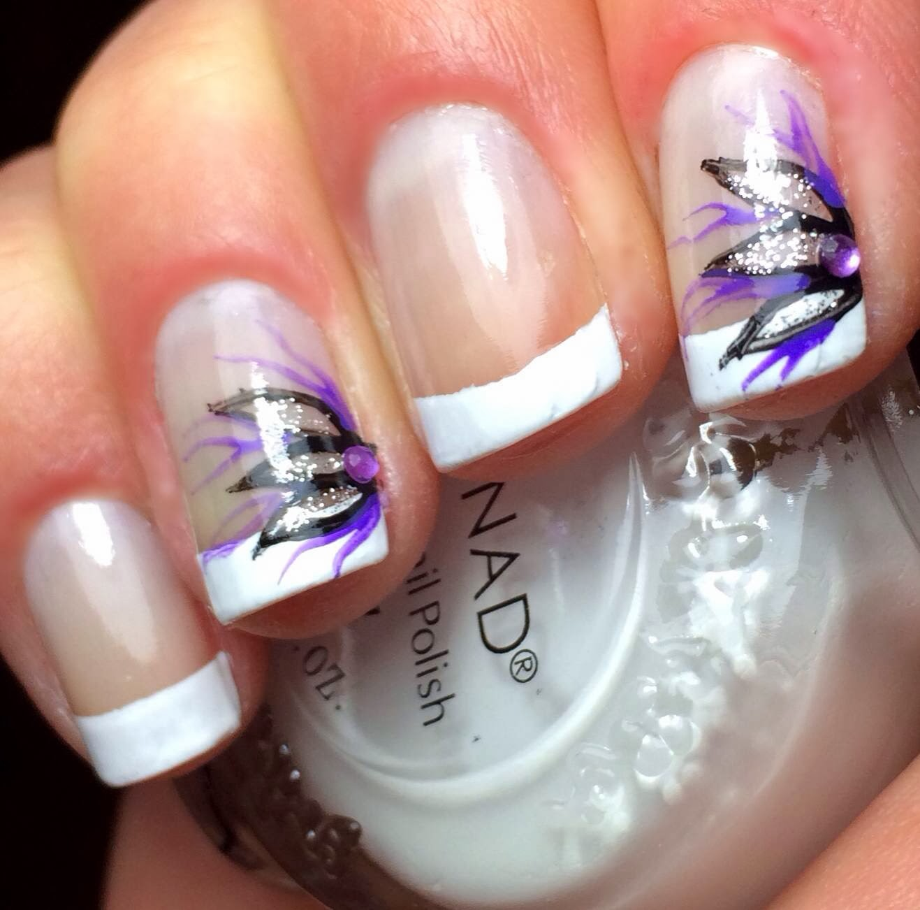 French tip design acrylic nails nails gallery french tip design acrylic nails photos prinsesfo Image collections