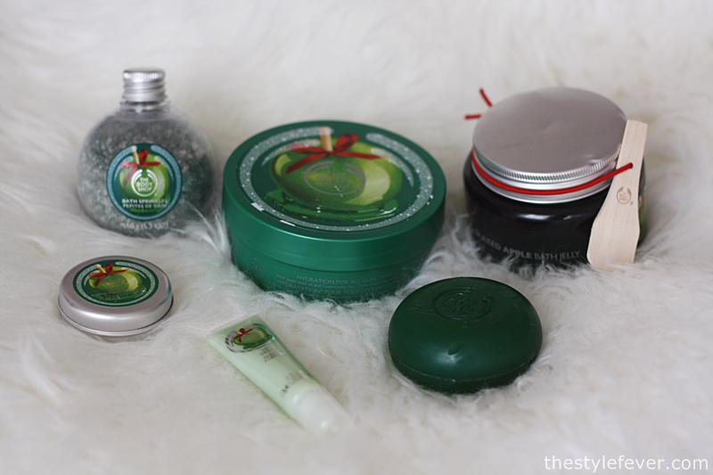 Novità The Body Shop, idee regalo Natale 2014, prodotti beauty al profumo di mela verde caramellata