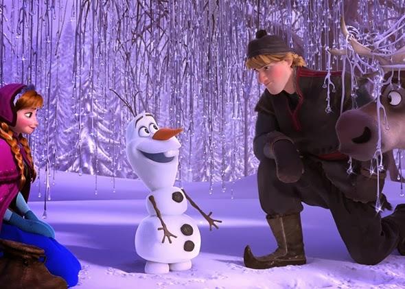 Anna Olaf Kristoff Sven Frozen animatedfilmreviews.filminspector.com