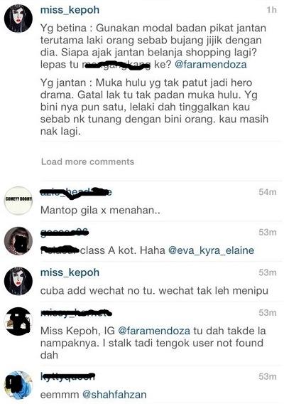 Screenshot Perbualan 'Fizz Fairuz' dan Seorang Wanita Tersebar