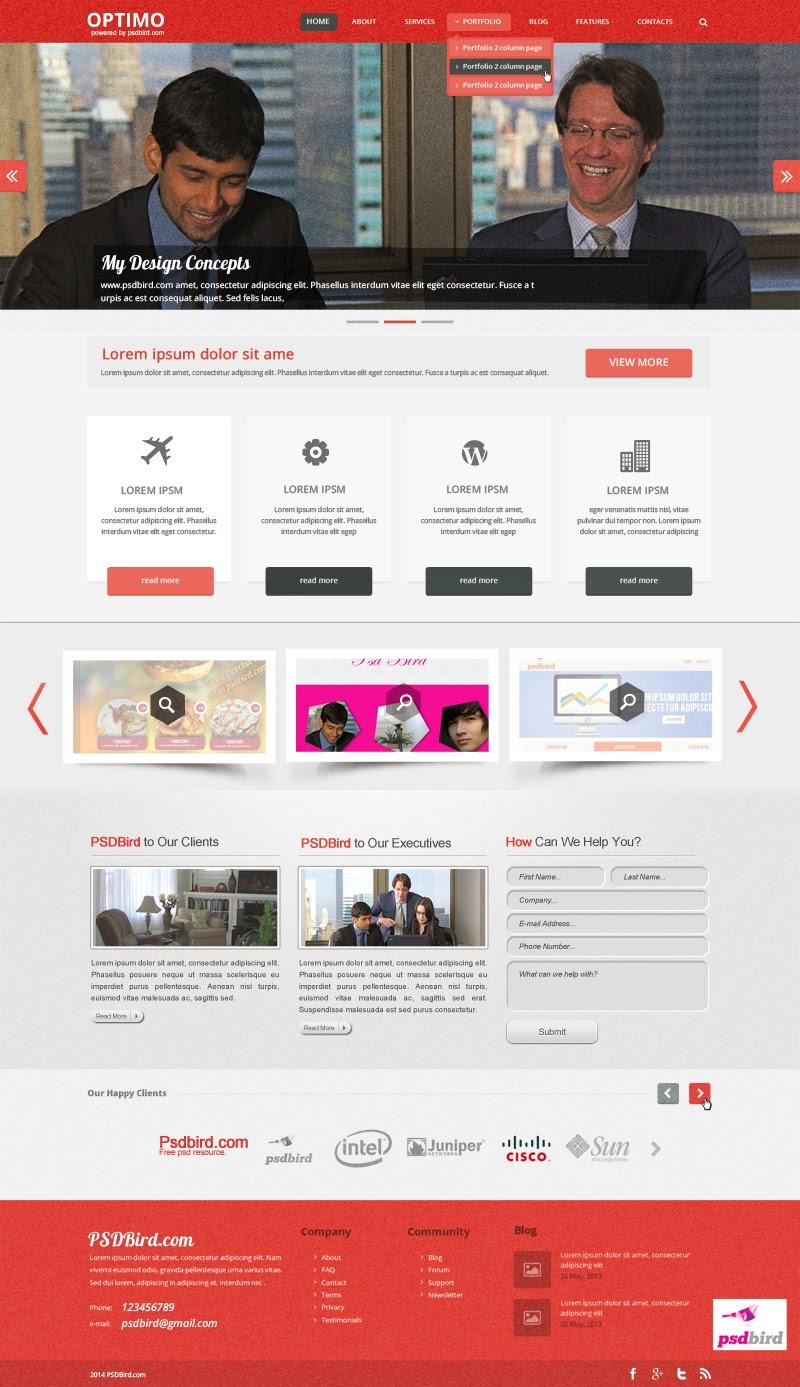 Free Responsive Web PSD Template