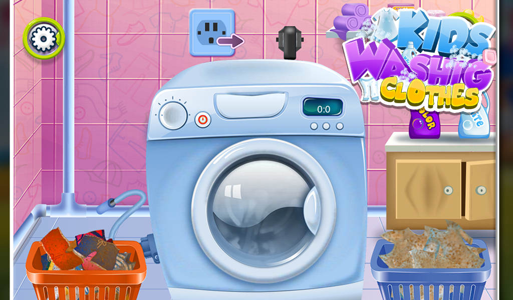 washing clothes game