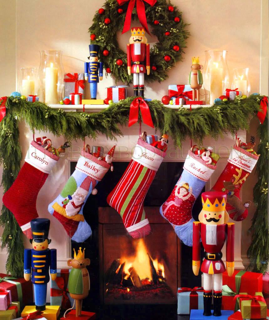 Decoraci n f cil decoracion navide a con calcetines - Dibujos de chimeneas de navidad ...