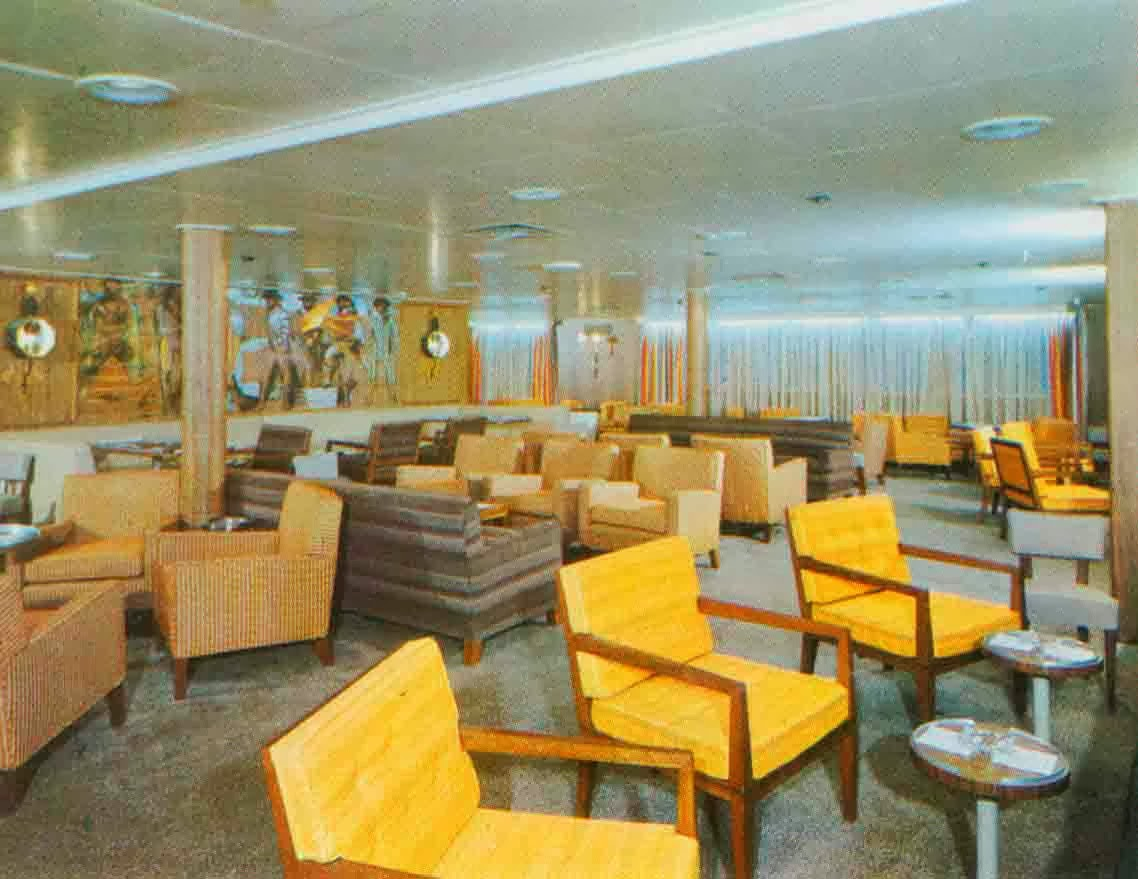 Atlantic Originally Sailed For American Banner Lines, Then American Export,  Then Finally As Universe Explorer. Interiors Were Handled By Raymond Loewy  ...