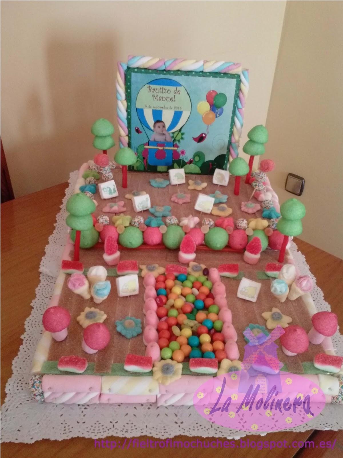La molinera tarta de chuches para el bautizo de manuel - Chuches para bautizo ...