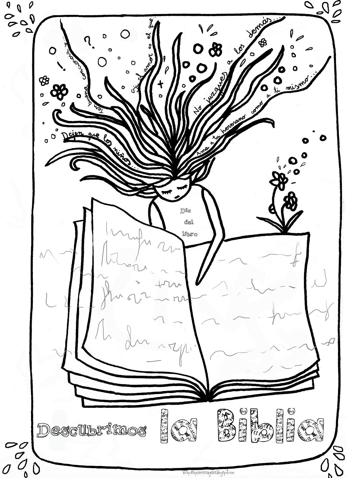 Dibujos para colorear d a del libro