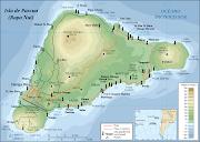 mapa isla de Pascua. Últimas noticias moáis desenterrados: isla de pascua mapa