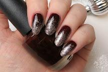Black Glitter Ombre Nail Designs