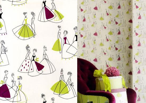 sandersons wallpaper. Fifi by Sanderson paper.