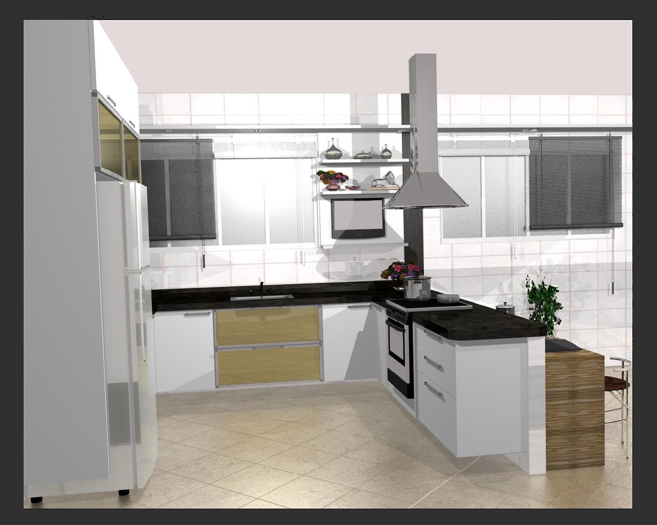 cozinha planejadas pequenas decorada americana modulada luxo moderna  #614D37 1280 1024