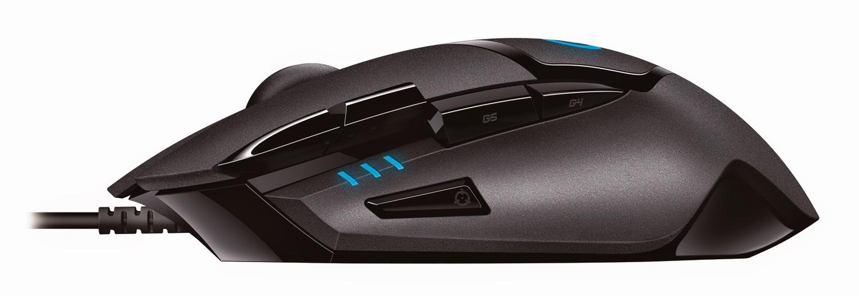 Logitech G402 Hyperion Fury Ultra-Fast FPS Gaming Mouse - left side