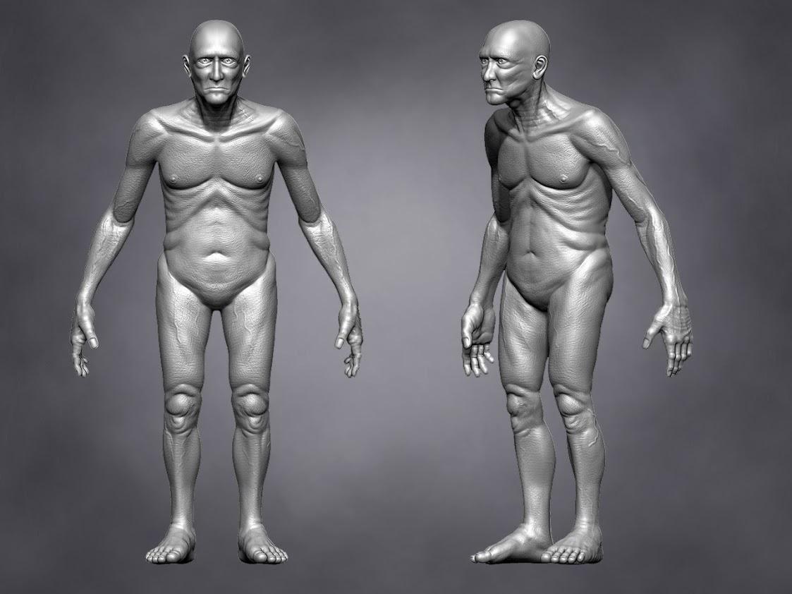 Cg Artist Old Man Anatomy Study