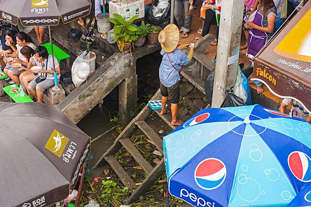 Pływający market - Tajlandia