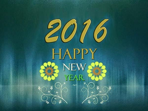 2016 Happy New Year Greetings Wallpapers