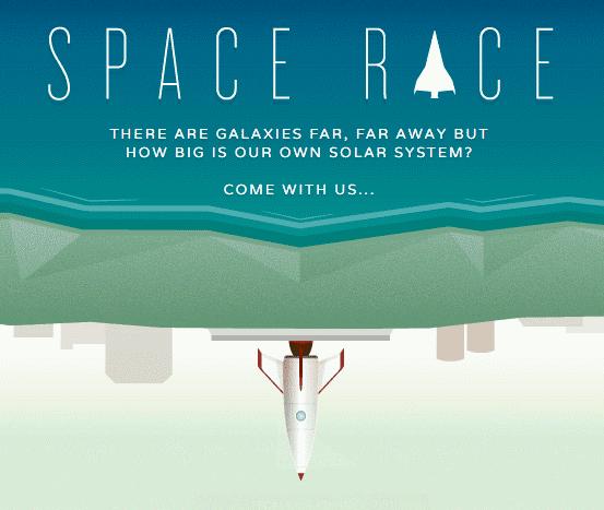 رحلة تفاعلية للفضاء