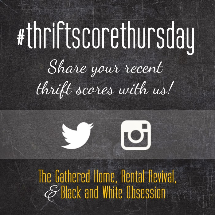 #thriftscorethursday Week 16 | Trisha from Black and White Obsession, Brynne's from The Gathered Home, and Megan from Rental Revival