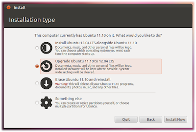 howto upgrade to ubuntu 12.04 LTS