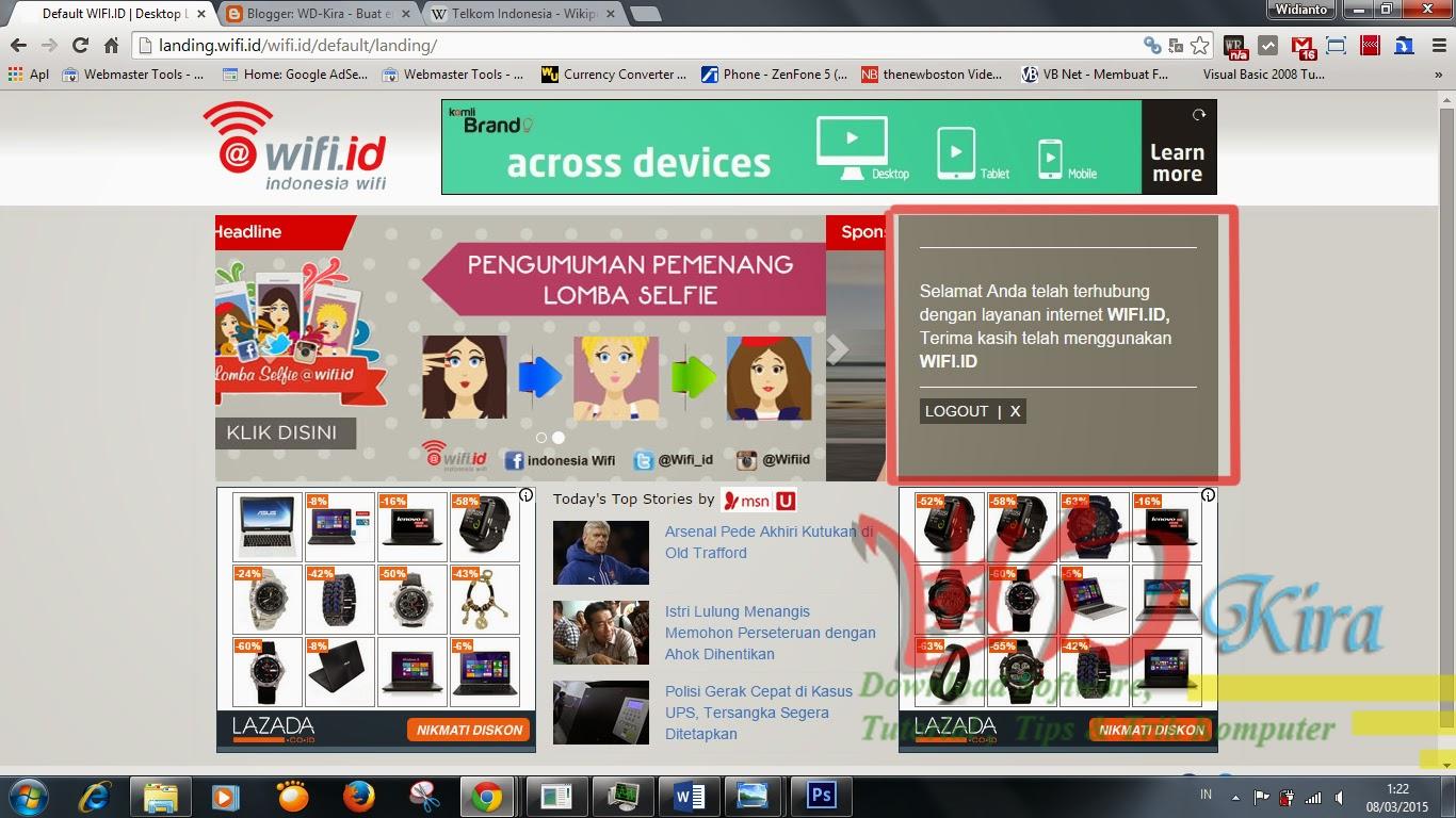 Daftar Internet Unlimited Kuota Wifi.ID Telkom dengan Pulsa Telkomsel ...