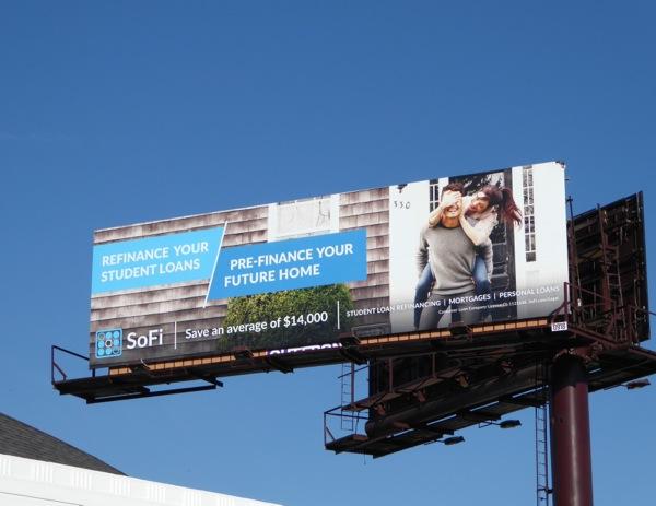 SoFi Pre-finance future home billboard