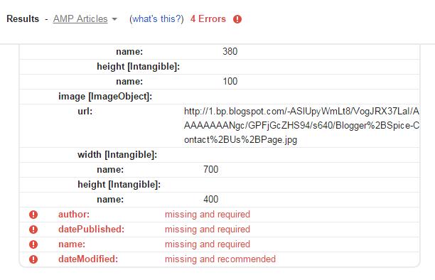 AMP articles error