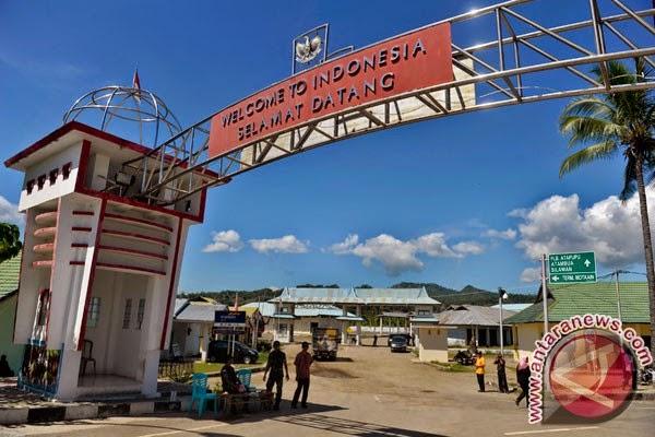 Pos Perbatasan Indonesia-Timor Leste di Atapupu, Nusa Tenggara Timur