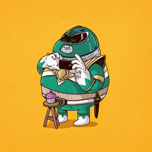 Green Power Ranger  con sobrepeso