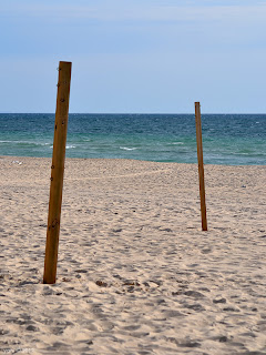 afternoon - beach poles