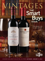 Cover photo of January 5, 2013 Vintages Magazine