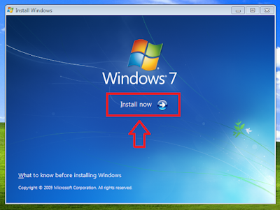 Cara Install Ulang Windows 7