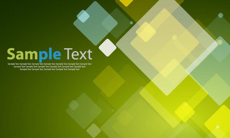 四角形の淡い色が重なる背景 Abstract Vector Background
