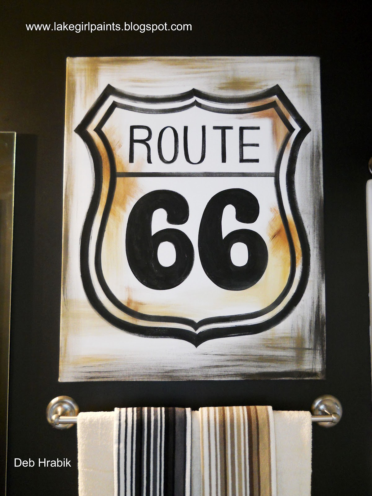 lake girl paints  route 66