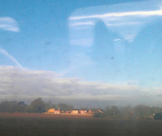 view kent countryside, from train to London, 9th Feb 2013