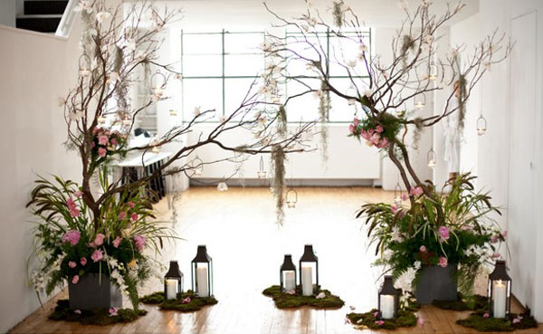 Inspiration songket affairs wedding decor ideas branch for Twigs decoration for weddings