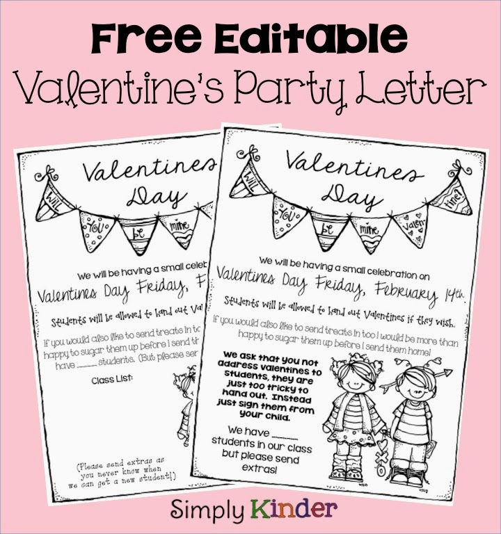Freebielicious Valentines Day Party Letter