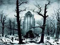 Caspar David Friedrich, Cimetière d'un cloître sous la neige