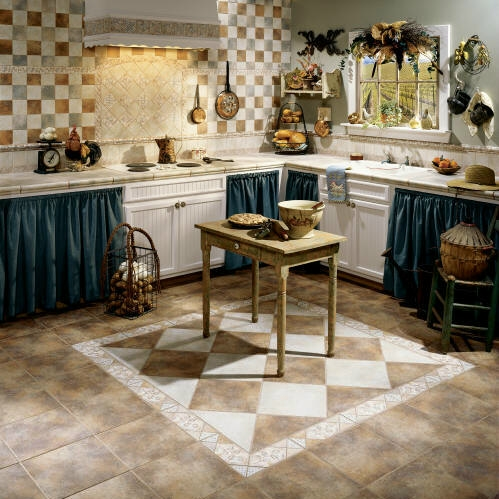 Installing the best floor tile designs to reflect your Kitchen tiles ideas