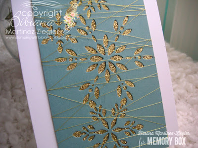 CAS gold snowflake card for winter detail
