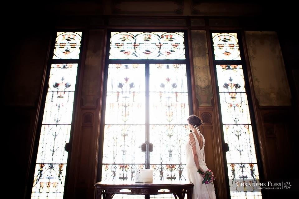 Robe de mariée rétro-chic années 20