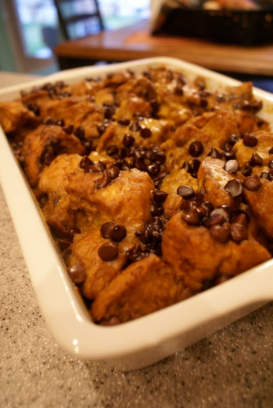 Tweetle Dee Design Co.: Pumpkin Chocolate Chip Bread Pudding