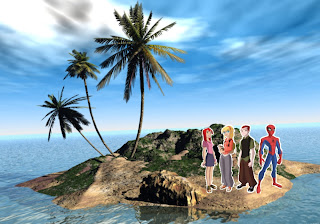 Spiderman and Friends Free Wallpapers in 3D Island background