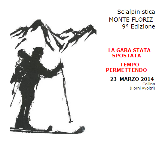 SCIALPINISTICA MONTE FLORIZ 2014