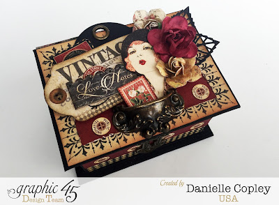 Graphic 45 Communique Box and tags coupon gift handmade holiday
