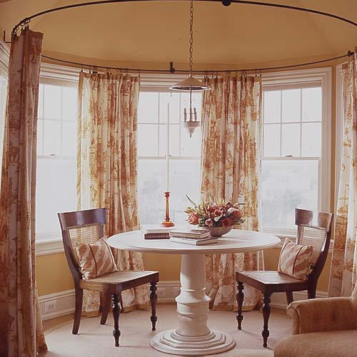 Second wind window dressing for Bay window treatments ideas kitchen