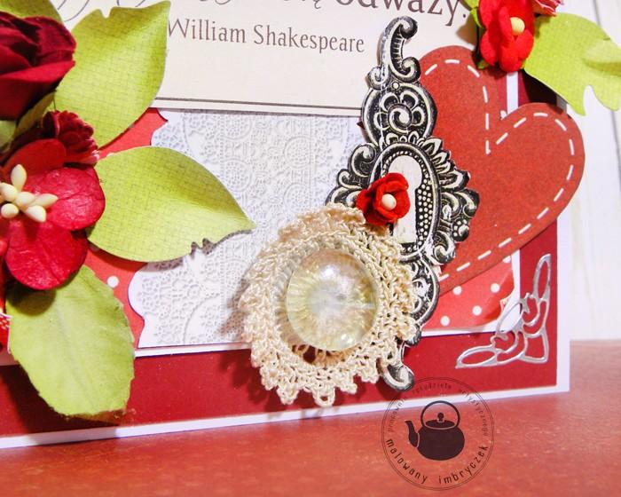scrapbooking card valentine walentynki  key imbryczek