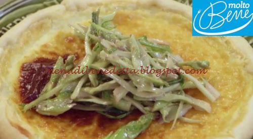 Torta salata con puntarelle e robiola ricetta Parodi per Molto Bene